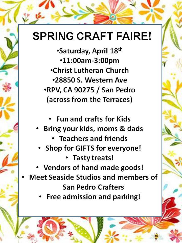 Spring Craft Faire @ Christ Lutheran Church | Rancho Palos Verdes | California | United States