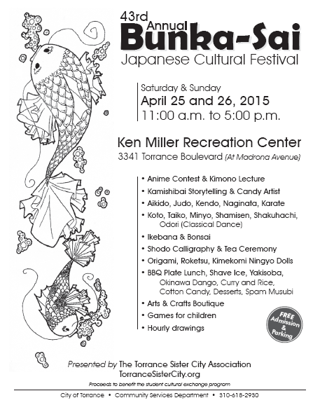 Bunka Sai Japanese Cultural Festival @  Ken Miller Recreation Center | Torrance | California | United States