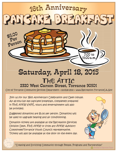 Pancake Breakfast @ The Attic | Torrance | California | United States