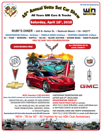 40th Annual Vette Set Car Show @ Ruby's Diner | Redondo Beach | California | United States