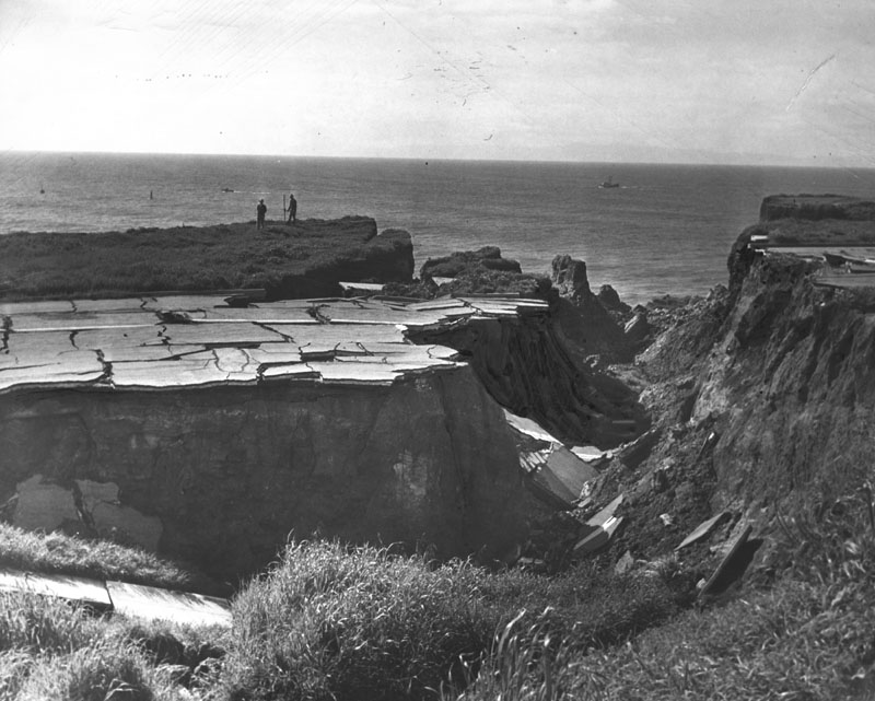 Sunken City, March 1941 (Photo courtesy the Los Angeles Public Library)