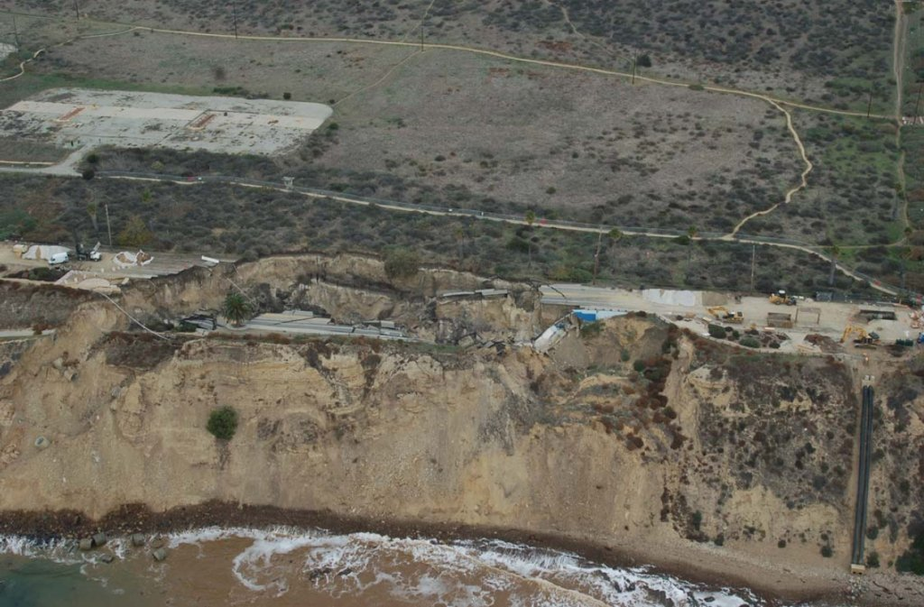 White Point Landslide Aerial View