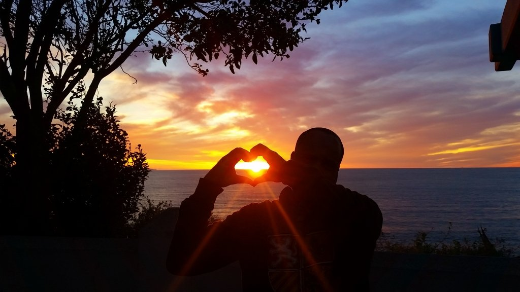 Lee's Heart in Sunset