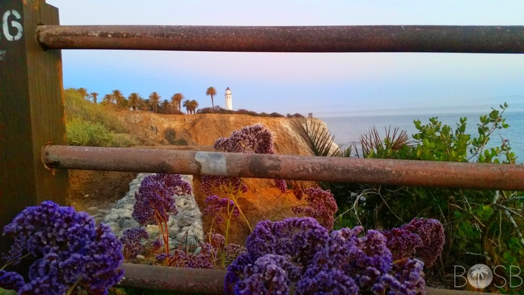 Point Vicente Lighthouse through the fence