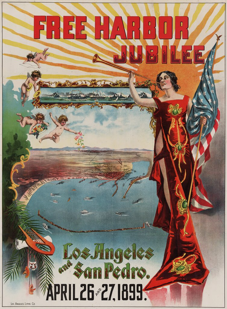 Free Harbor Jubilee poster, Los Angeles & San Pedro, California, 1899 From the Artist Posters Collection at the Library of Congress